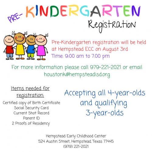 Pre-Kindergarten Registration