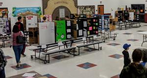 Science Fair - Crowd and Entries