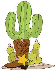 cowboy boot and cactus