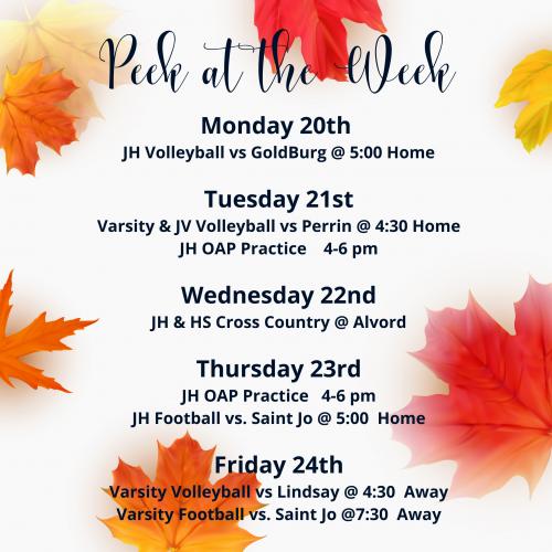 Peek at the Week