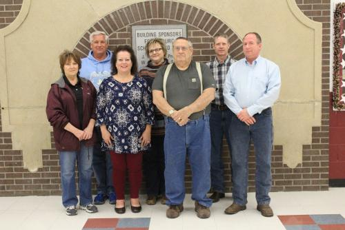 School Board members: Charley Lanier, Kristy  Tillman, Chad Hudspeth, Billie Piorot, Audimarie Keown, Skip Mann, Jimmy Raney