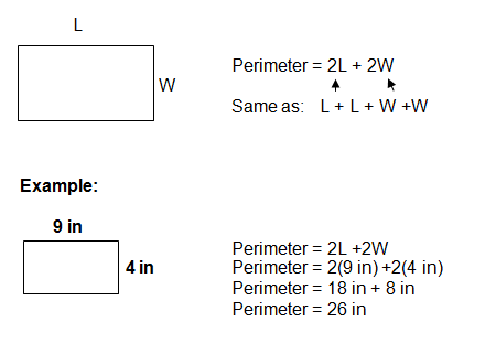 perimeter examples with formulas