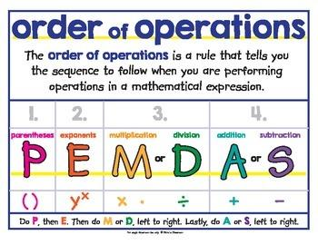 Order of operations steps