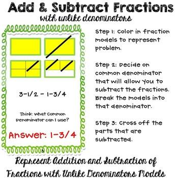 add and subtract fractions method