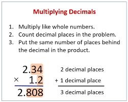 mutiplying decimals