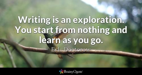 writing quote on exploration