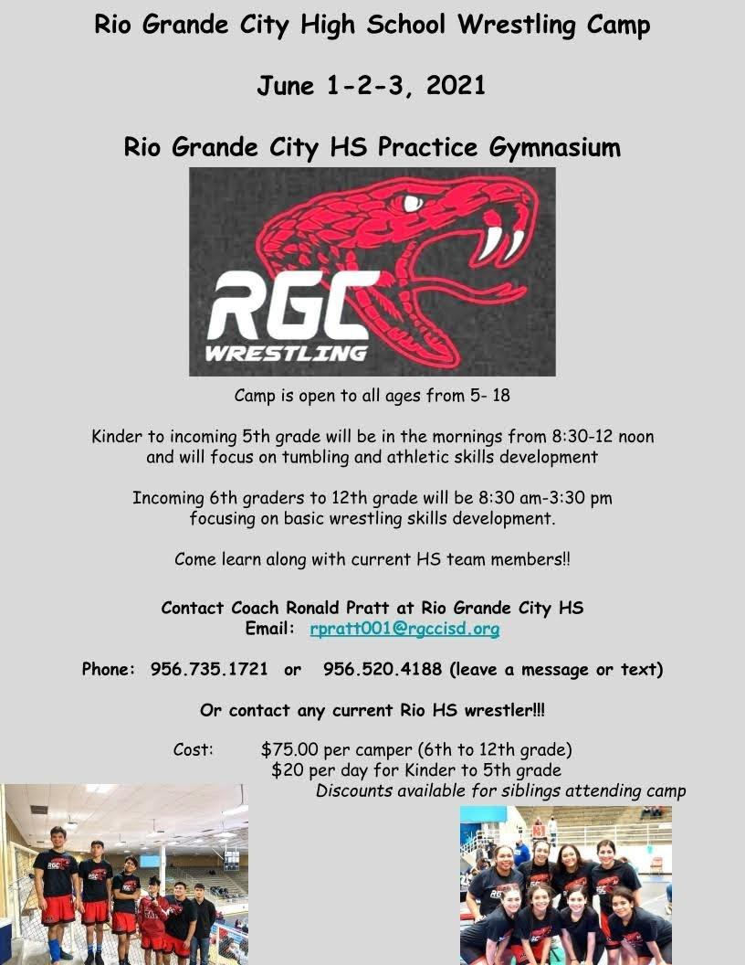 Rio Grande City High School Wrestling Camp