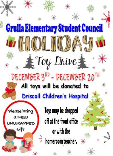 toy drive notice
