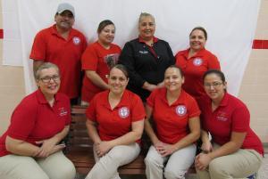 Cafeteria Staff - Nancy Cantu, Arabella Rodriguez, Ana Ramos, Fareda Rodriguez, Rodolfo Adame, Marina Pena, Matilde Alaffa, Martha Elizondo