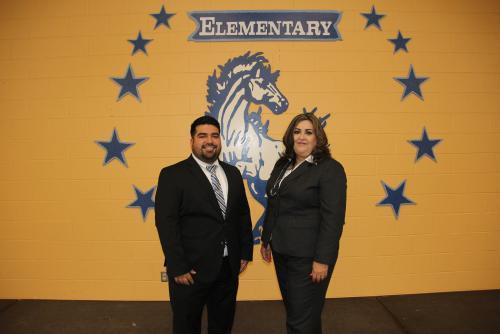 Mrs. L. Barrera and Mr. M. Saenz