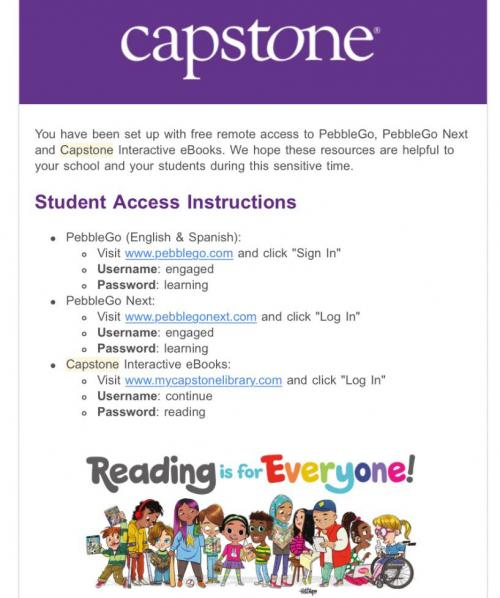 capstone online access to ebooks