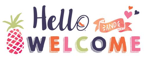 Hello and Welcome banner