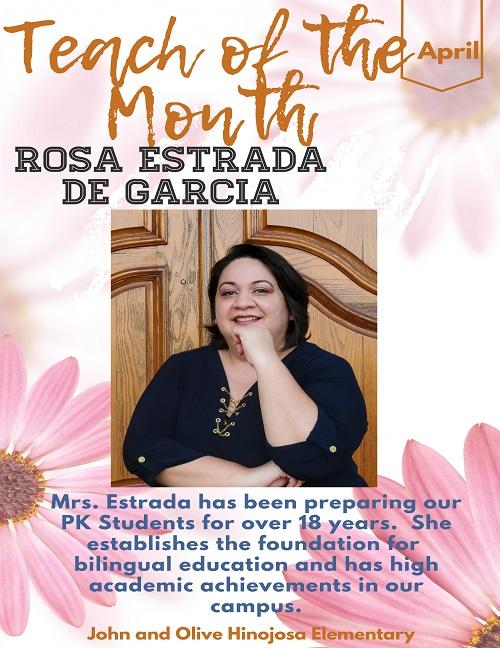 teacher of the month Rosa Estrada