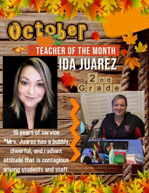 teacher of the month ida juarez