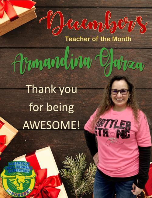 december teacher of the month