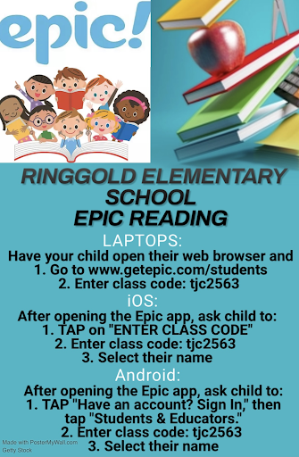 school epic reading flyer