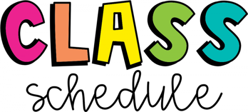 image of the word class schedule