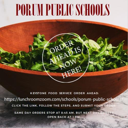 Porum Salad Order Form