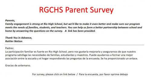 Parent survey request