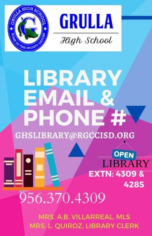 GHS library flyer..