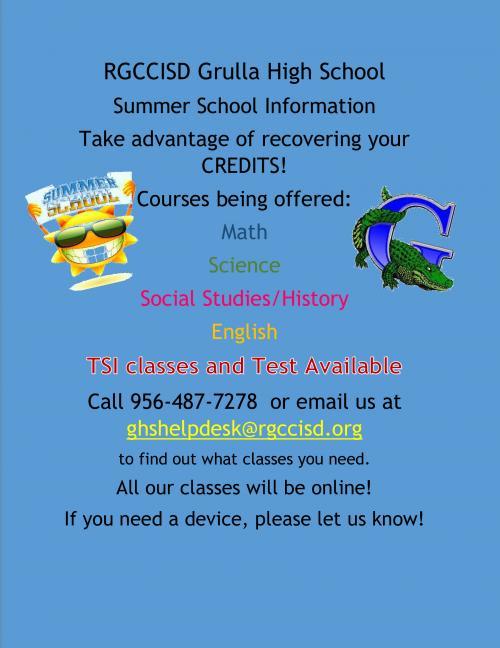 2020 GHS Summer School