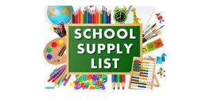 2020 - 21 Jr. High School Supply List