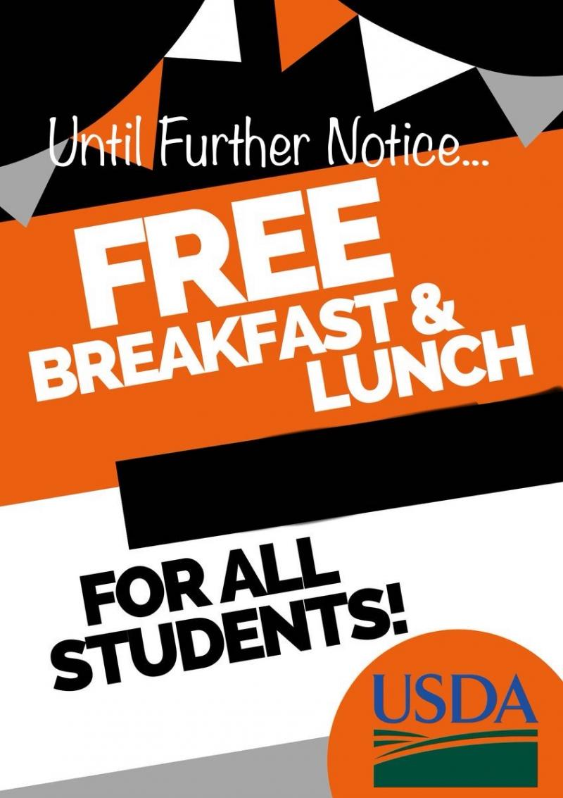 FREE Breakfast & Lunch for all AHS students!