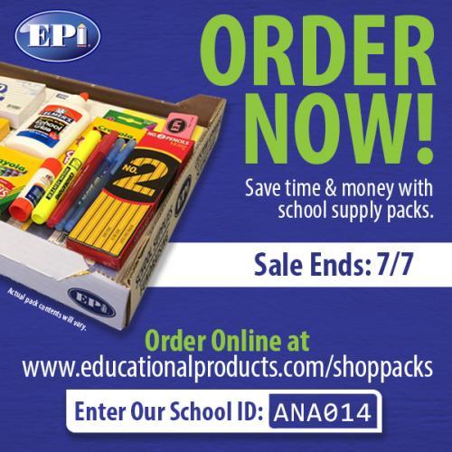 order school supplies