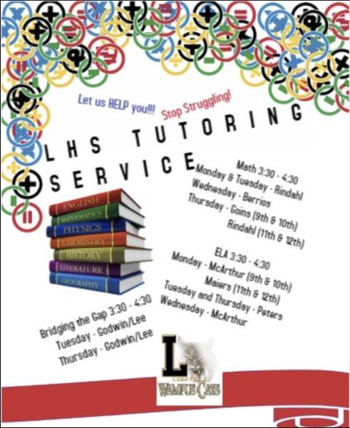Tutoring will begin November 9, 2020