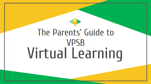 Virtual Learning cover page for presentation.