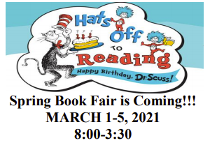 Spring Book Fair is Coming!!!