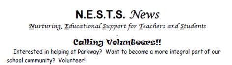 N.E.S.T.S NEWS