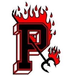 flaming P