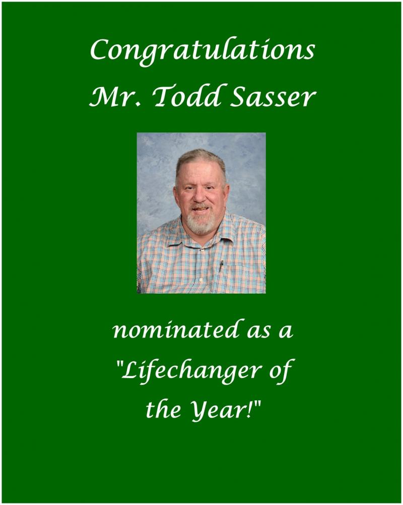 Vote for Mr. Todd!