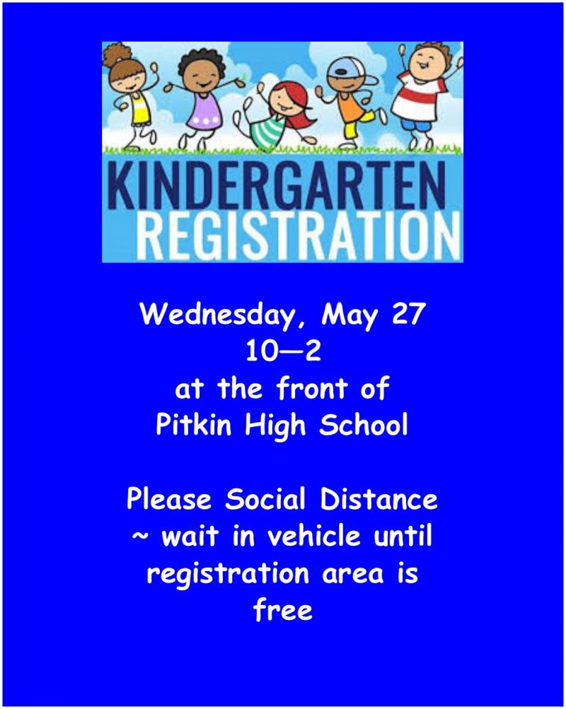 Kindergarten Registration - May 27 10-2