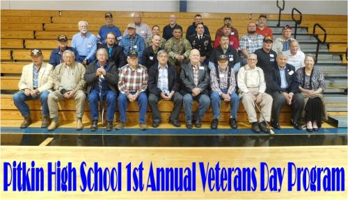 1st Annual Veterans Day Program - 2018