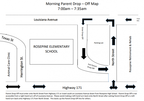 RES Morning Drop Off Map