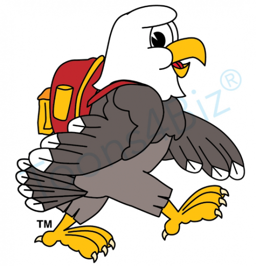 eagle, backpack, mascot