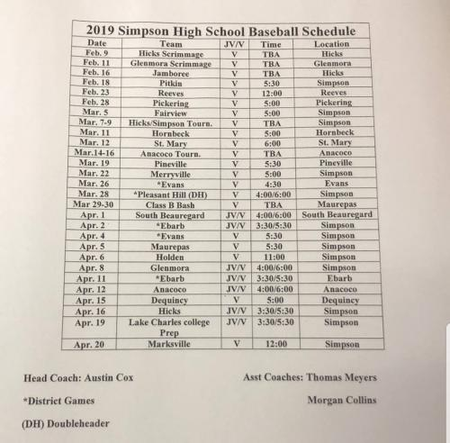 Elementary and Jr. High Basketball Schedule 2019-2020