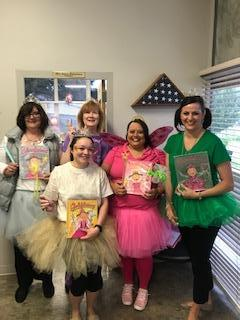 The office staff on Book Character Day!