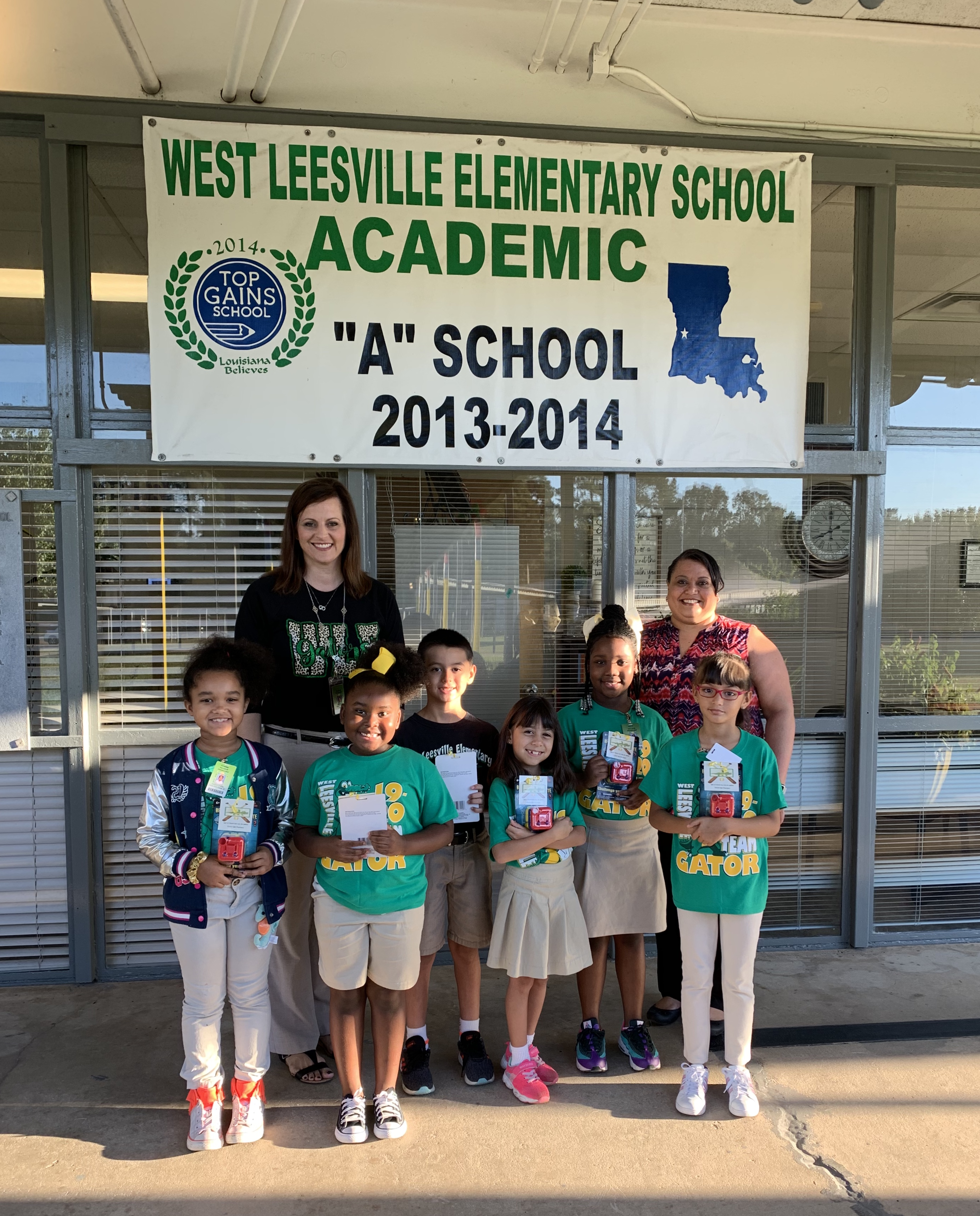 2nd. Grade Outstanding Students of the 1st. Six Weeks