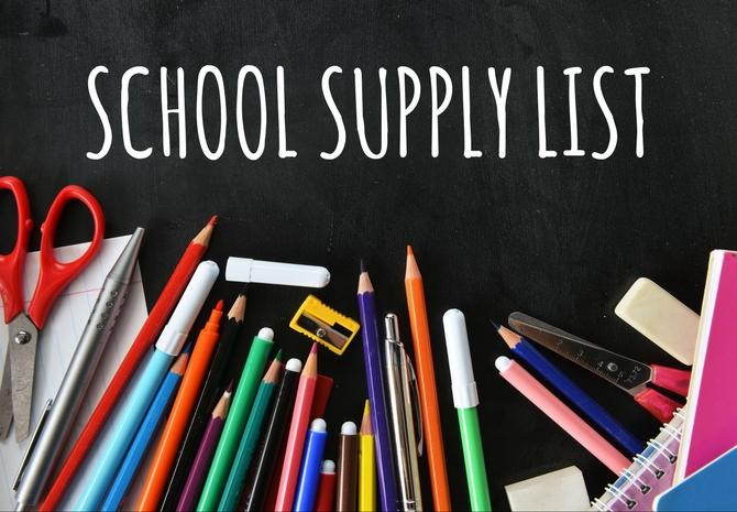 Elementary School Supply Lists 2020-2021