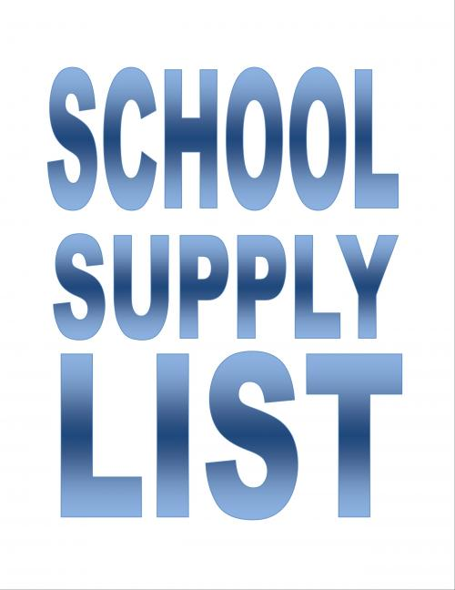 Link to Middle School Supply List