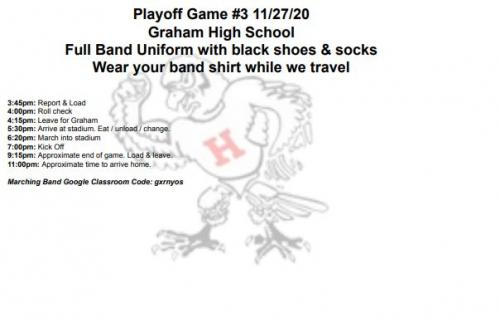 Eastland playoff itinerary