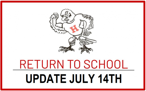 Update on Plans for 20-21 Return to School