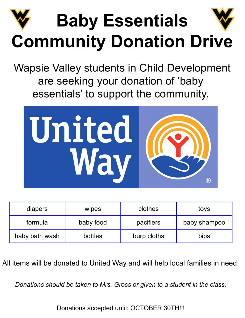 Child Development Community Donation Drive