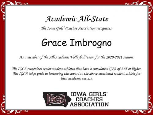 All-Academic VB Team