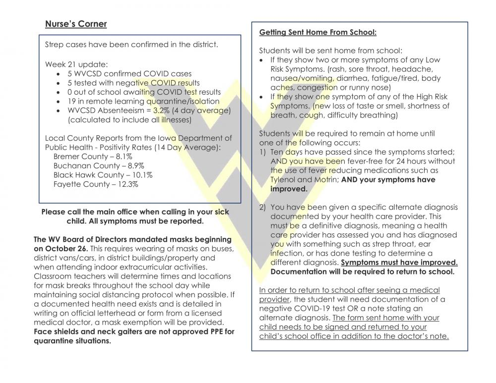 Nurses's Corner COVID Update 1 22 2021 1