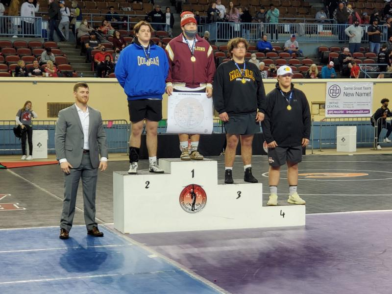 Williams Earns Third in State Class 4A Friday on Mat; Thompson Represented Lady 'Cats