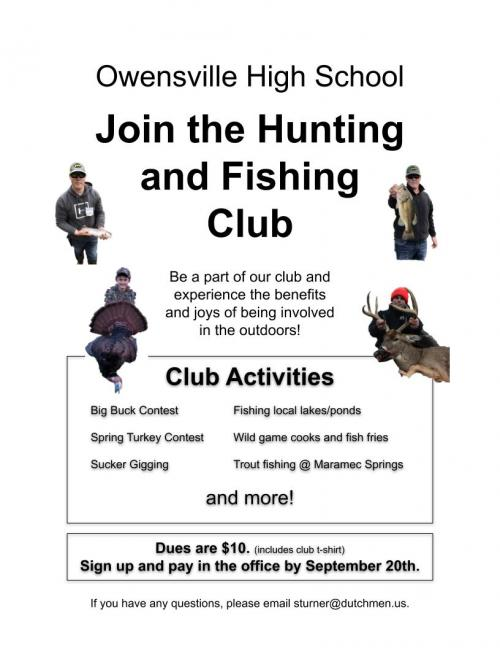 1920 Hunting and Fishing Club Flyer